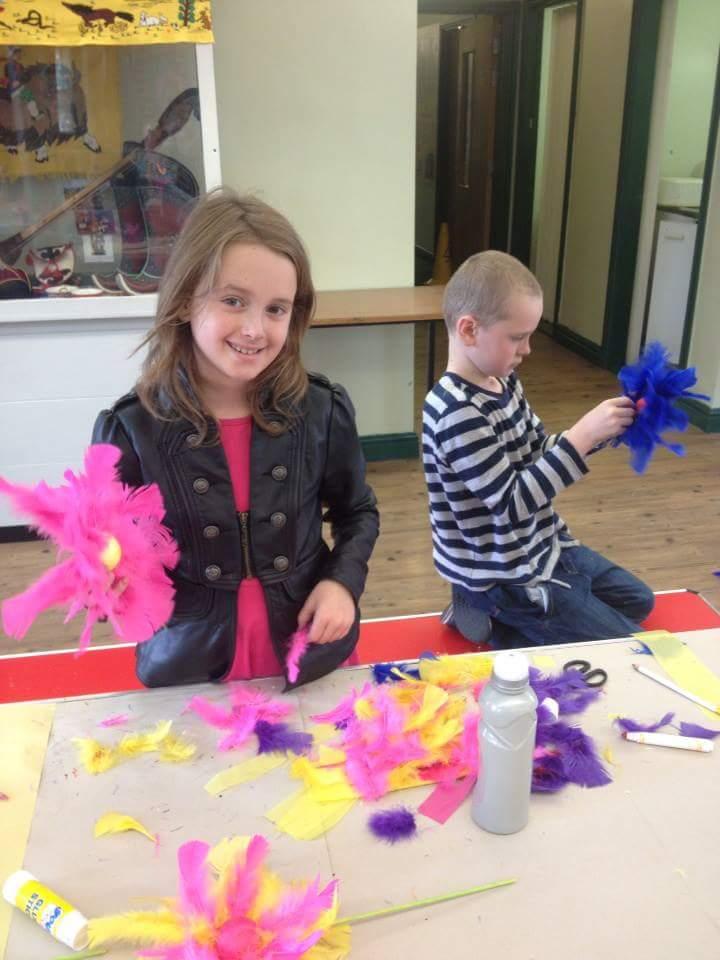Art workshops at the Hat Works, Stockport