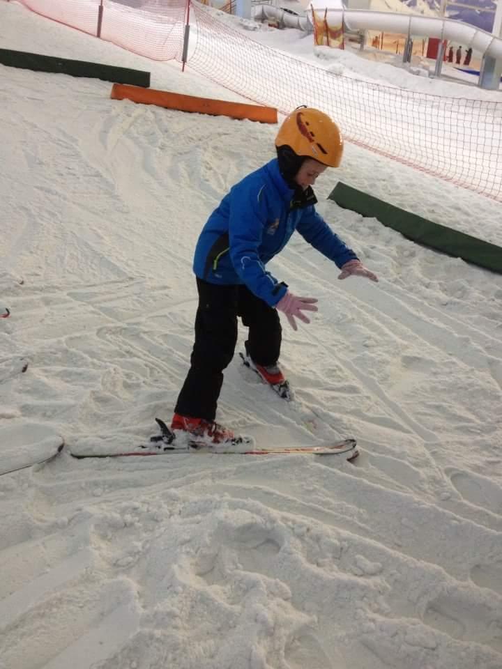 Family taster ski lesson at the Chill Factore, Trafford