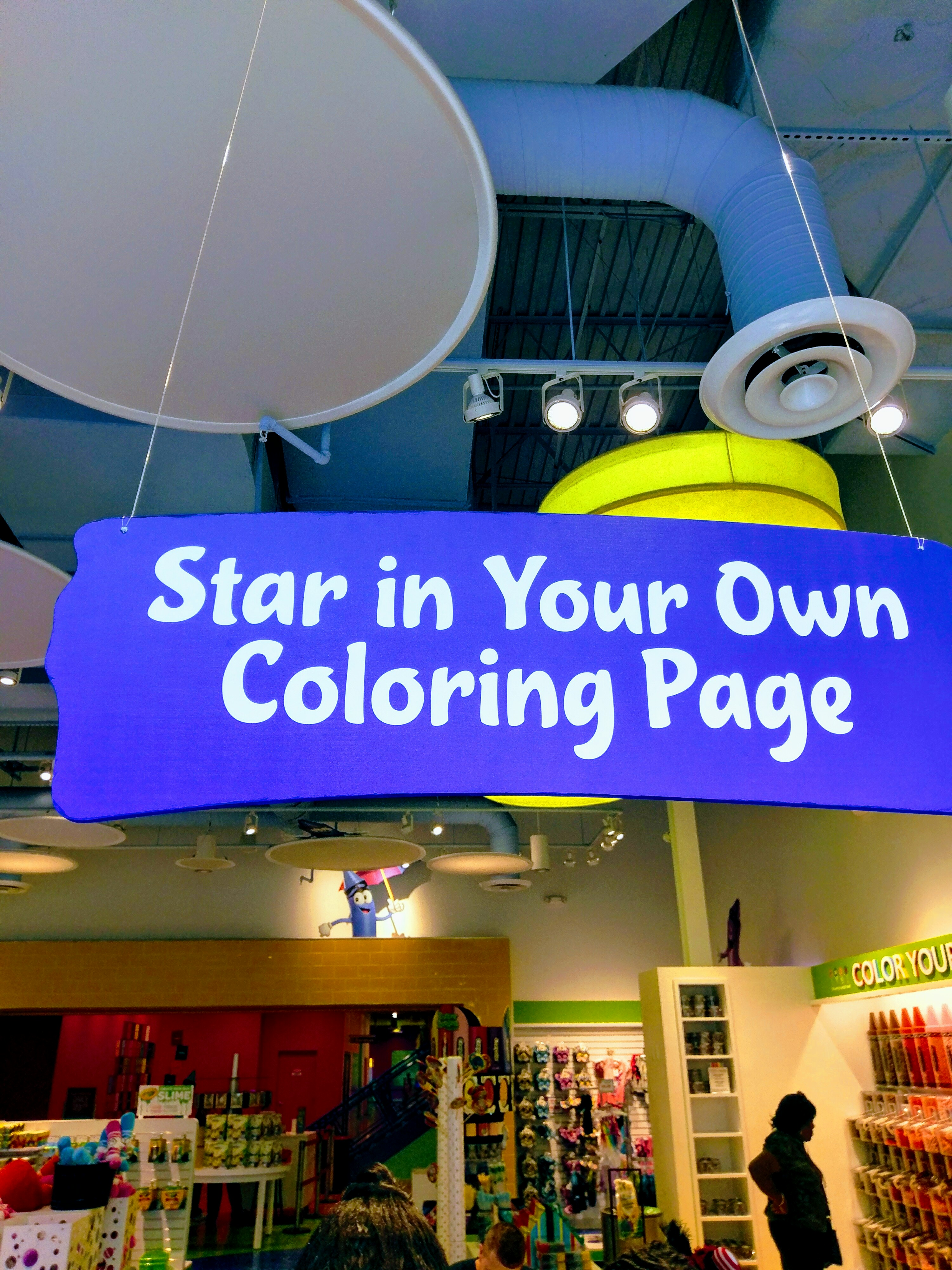 Star in your own colouring page at the Crayola Experience shop, Orlando