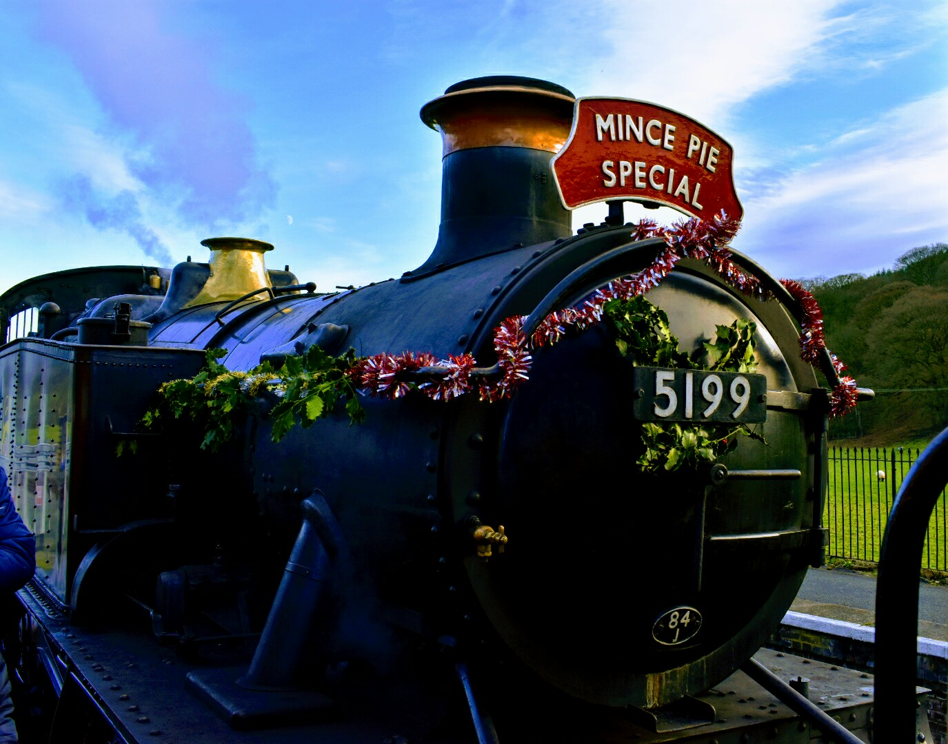 A Mince Pie Special trip on the LLangollen Railway, Wales