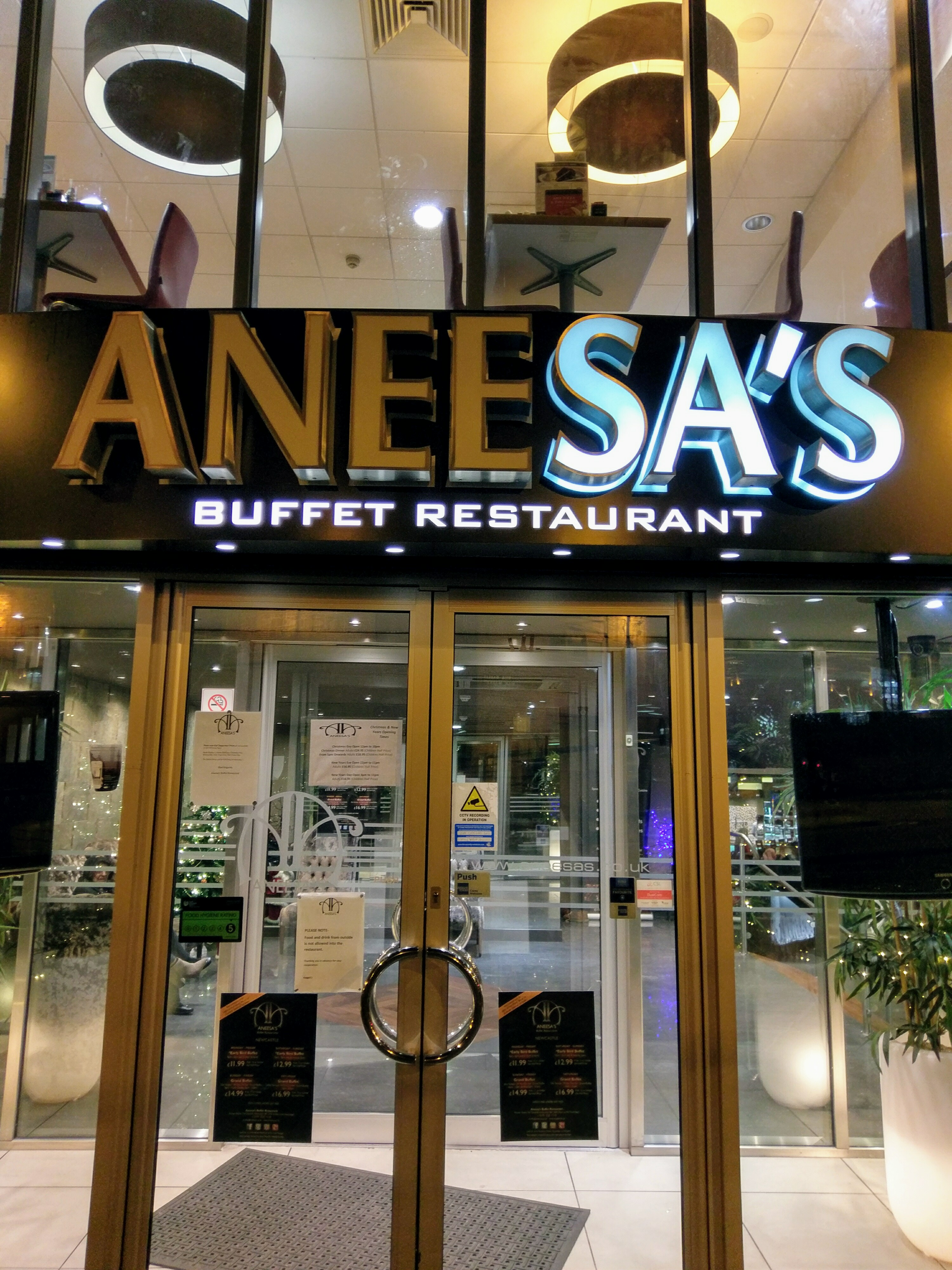 Aneesa's Buffet Restaurant, Newcastle upon Tyne, UK